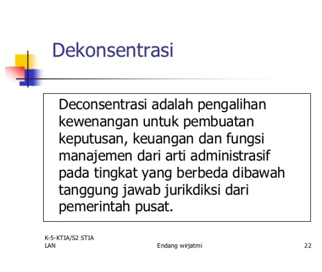Dekonsentrasi Deconsentrasi