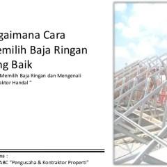 Kontraktor Baja Ringan Jakarta Di Bogor Depok Tangerang