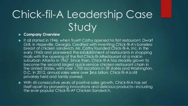 Chick Fil Leadership Team
