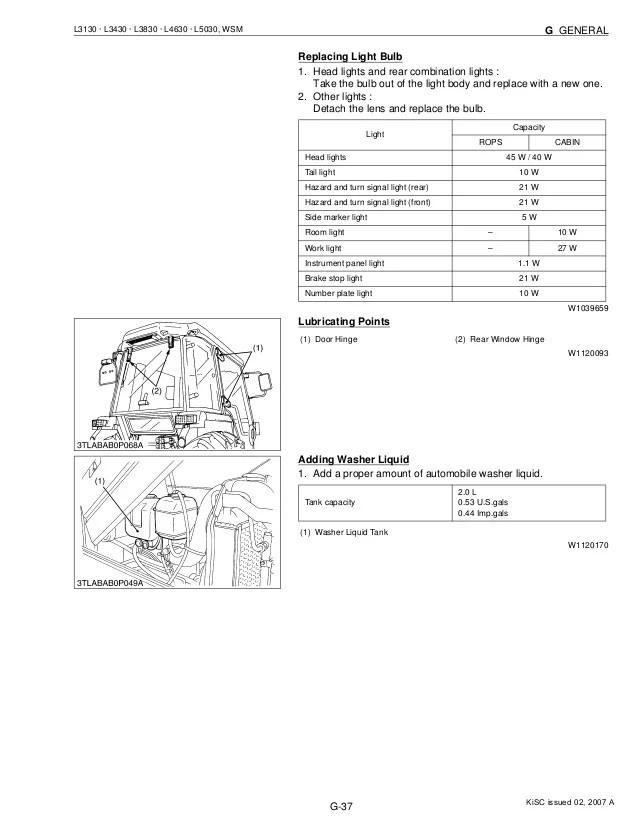 Kubota l3830 tractor service repair manual