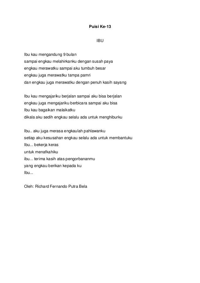 Puisi Kasih Sayang Orang Tua : puisi, kasih, sayang, orang, Contoh, Puisi, Kasih, Sayang, Kumpulan