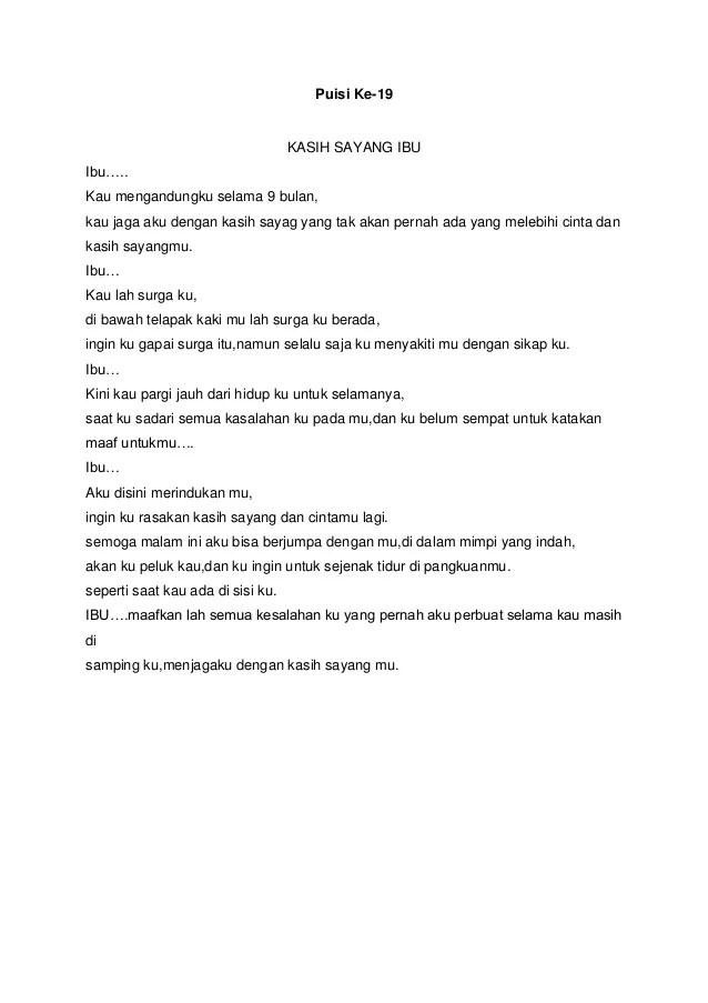 Puisi Kasih Sayang Orang Tua : puisi, kasih, sayang, orang, Puisi, Kasih, Sayang, Orang