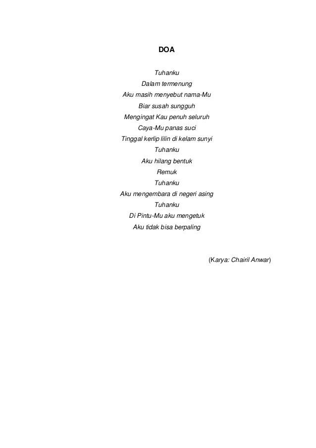Tipografi Dalam Puisi : tipografi, dalam, puisi, Kumpulan, Puisi, Unsur, Intrinsiknya