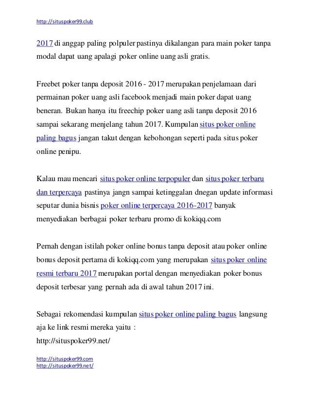 Main Poker Tanpa Modal Dapat Uang : poker, tanpa, modal, dapat, Kumpulan, Situs, Poker, Online, Resmi, Terbaru, Paling, Bagus, Tanpa, Pen…