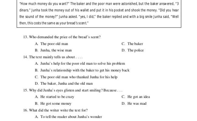 kumpulan soal narrative text un challenge 3 638