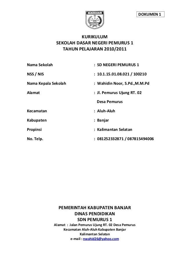 Dokumen 1 Kurikulum 2013 Sd : dokumen, kurikulum, Kurikulum, Dokumen
