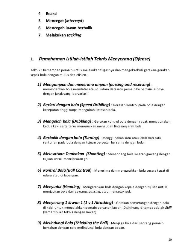 100 Istilah Dalam Sepak Bola : istilah, dalam, sepak, Kurikulum, Sepak, Indonesia, Part1