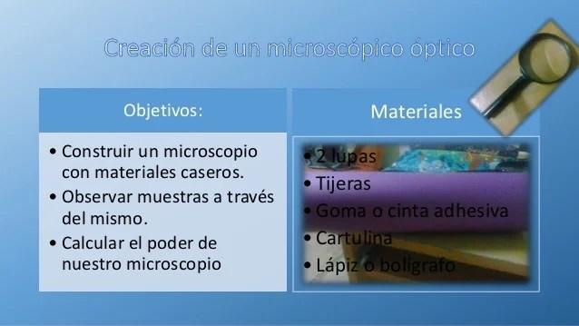 Lab 1 microscopio casero