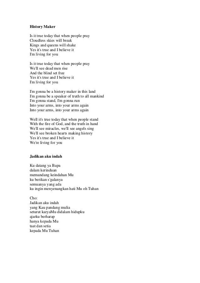Jadikan Aku Indah Lirik : jadikan, indah, lirik, Rohani