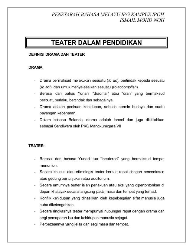 Unsur Unsur Teater : unsur, teater, UNSUR, TEATER