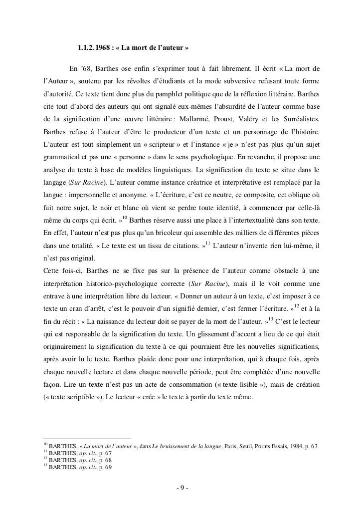 Roland Barthes La Mort De L'auteur : roland, barthes, l'auteur, L'auteur, Barthes