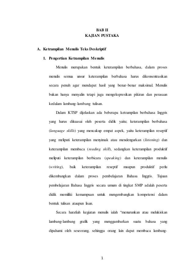 Teks Deskripsi Bahasa Inggris : Pengertian, Ciri, Stru