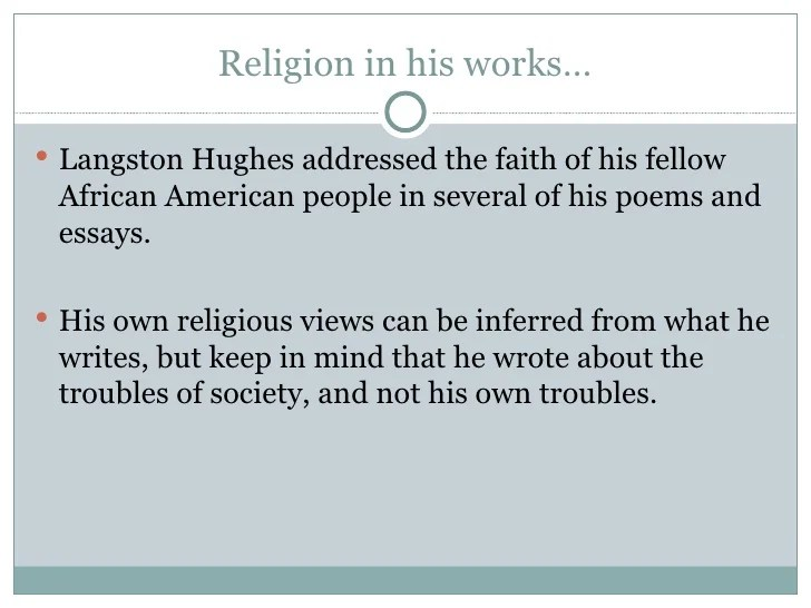 Essays By Langston Hughes Com Langston Hughes And The Chicago