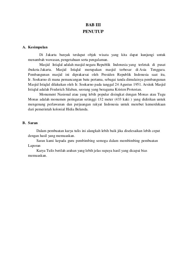 Kesimpulan Laporan Study Tour Yogyakarta Seputar Laporan Cute766