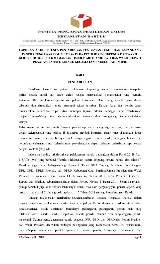 Contoh Laporan Akhir Panwaslu Kabupaten : contoh, laporan, akhir, panwaslu, kabupaten, Laporan, Akhir, PEREKRUTAN