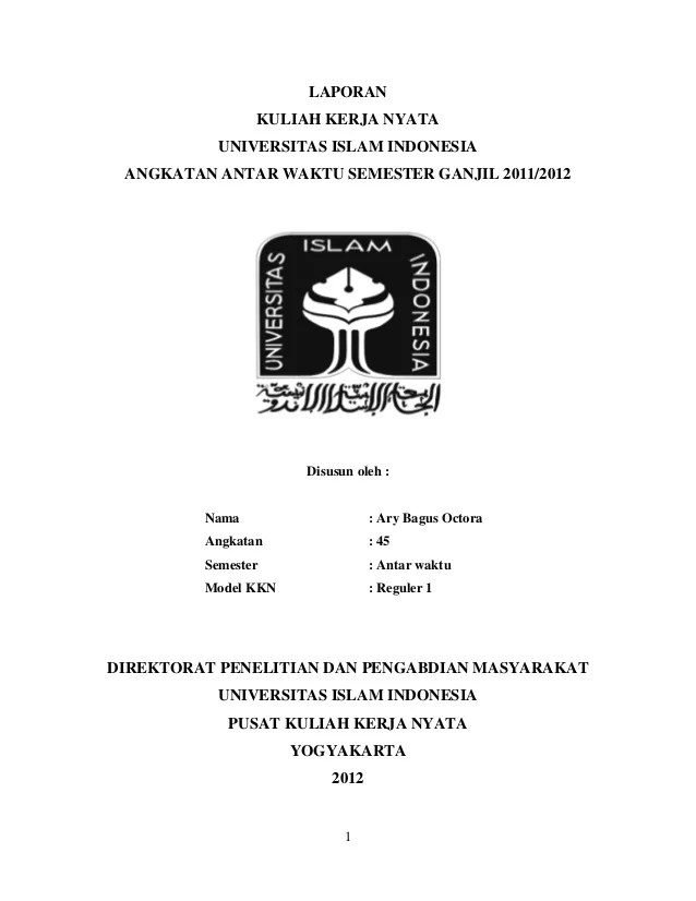 Contoh Cover Makalah Universitas Islam Riau Contoh Sit Cute766