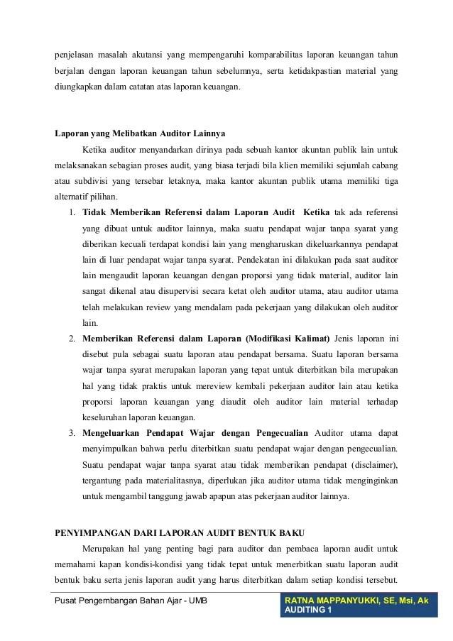 Contoh Laporan Auditor Independen Wajar Tanpa Pengecualian Seputar Laporan Cute766