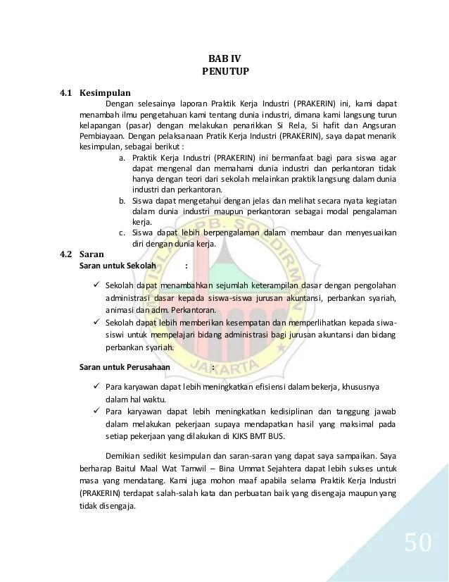 Contoh Laporan Prakerin Jurusan Akuntansi Di Koperasi