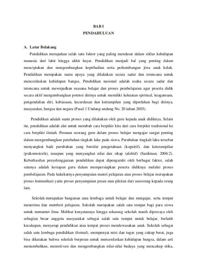 Contoh Laporan Hasil Observasi Sekolah Dasar Seputar Laporan Cute766