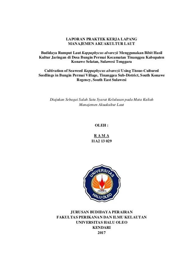 Contoh Judul Laporan Pkl Manajemen Keuangan Kumpulan Contoh Laporan Cute766