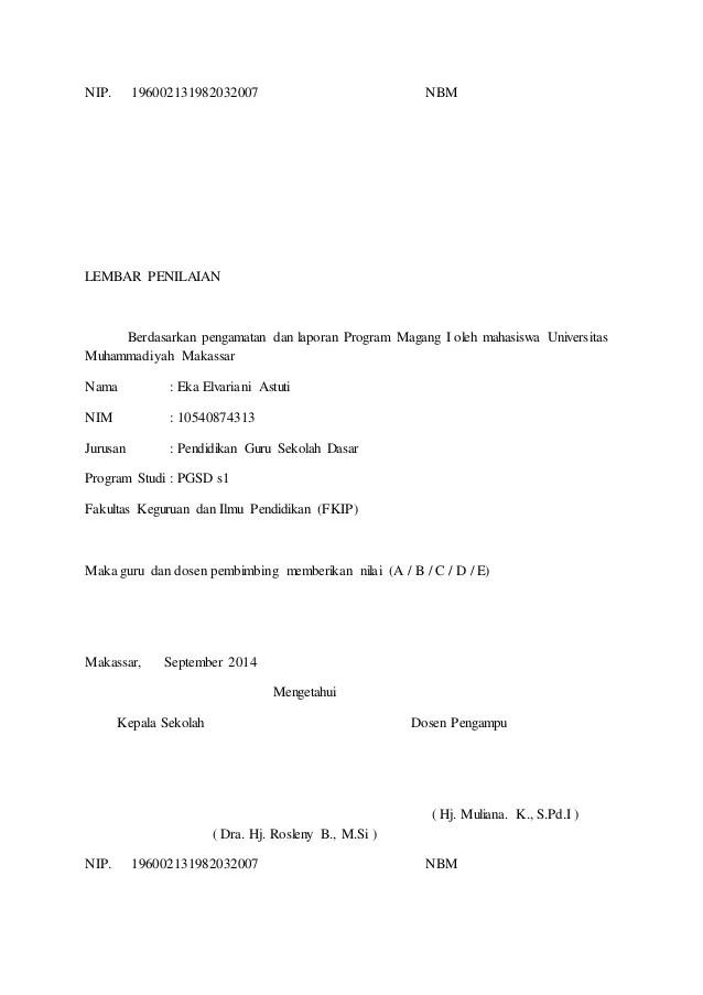 Contoh Laporan Magang 1 Pgsd : contoh, laporan, magang, Laporan, Magang, Unismuh, Makassar