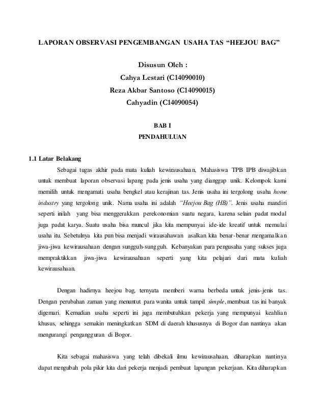 Contoh Laporan Pelaksanaan Hasil Program Pengembangan Kewirausahaan Cute766
