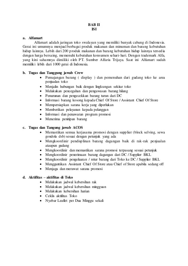 Contoh Makalah Hasil Observasi Di Alfamart Download Contoh Lengkap Gratis