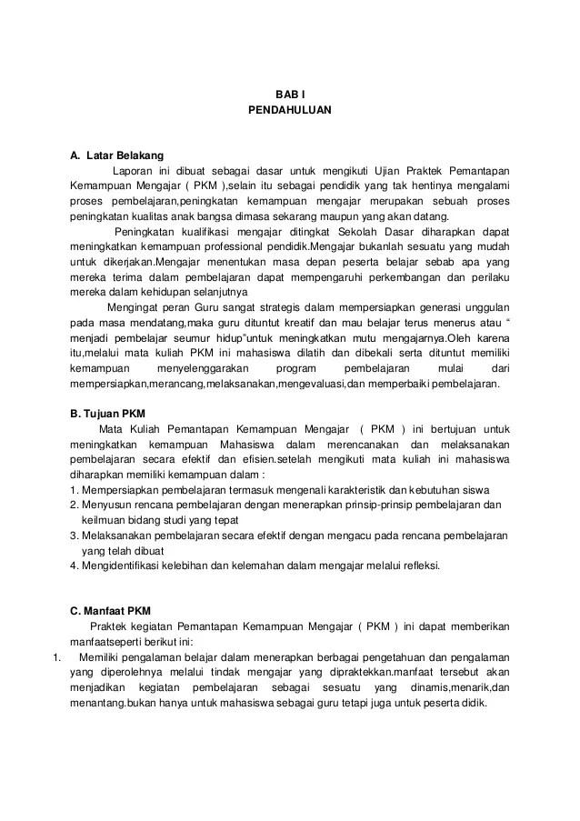 Contoh Laporan Pkm Ut Pg Paud Kumpulan Contoh Laporan Cute766