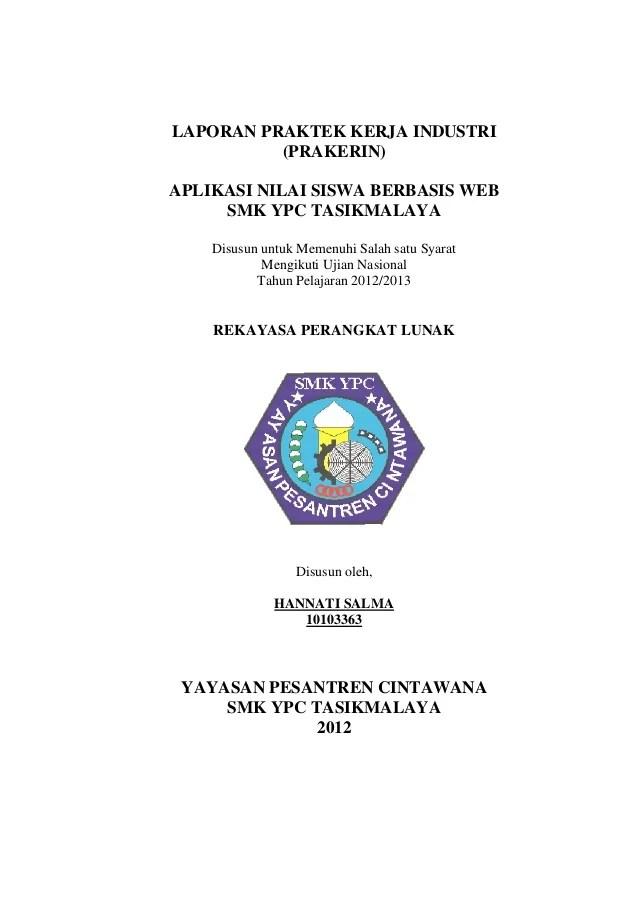 Contoh Cover Proposal Magang