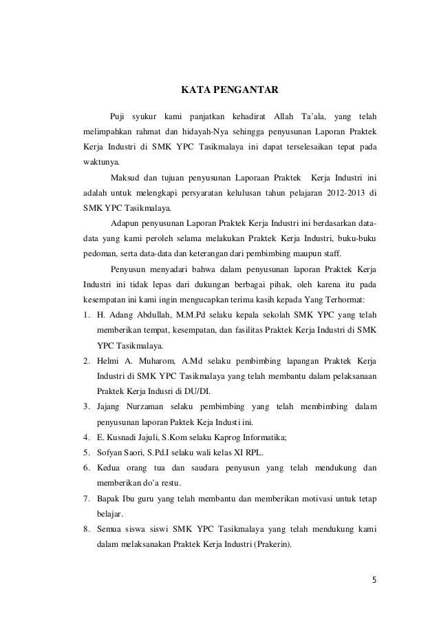 Contoh Laporan Pkl Rpl Pdf Download Contoh Lengkap Gratis