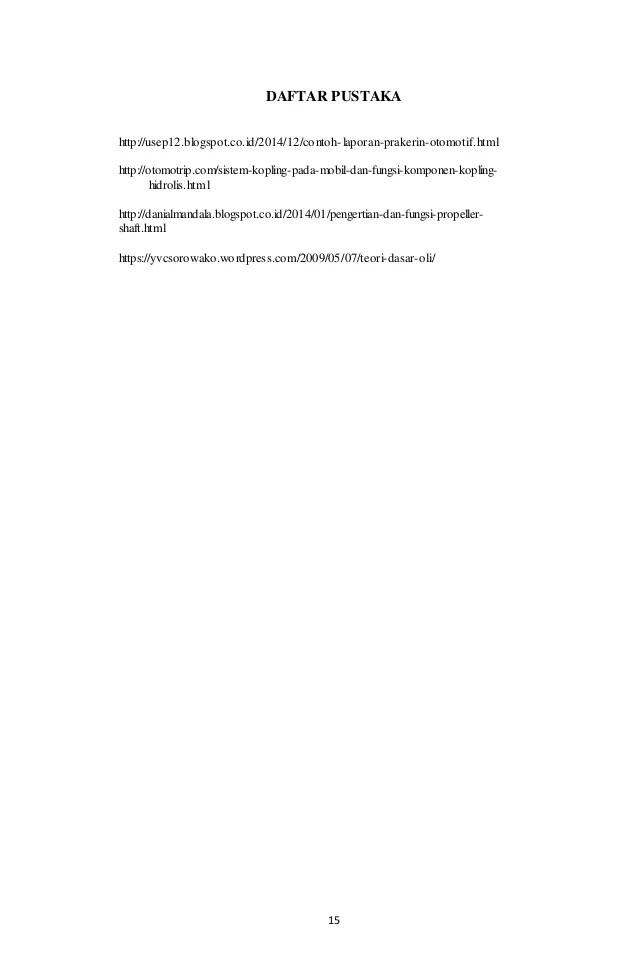 Contoh Daftar Pustaka Laporan Fisika Jawat Kosong Cute766