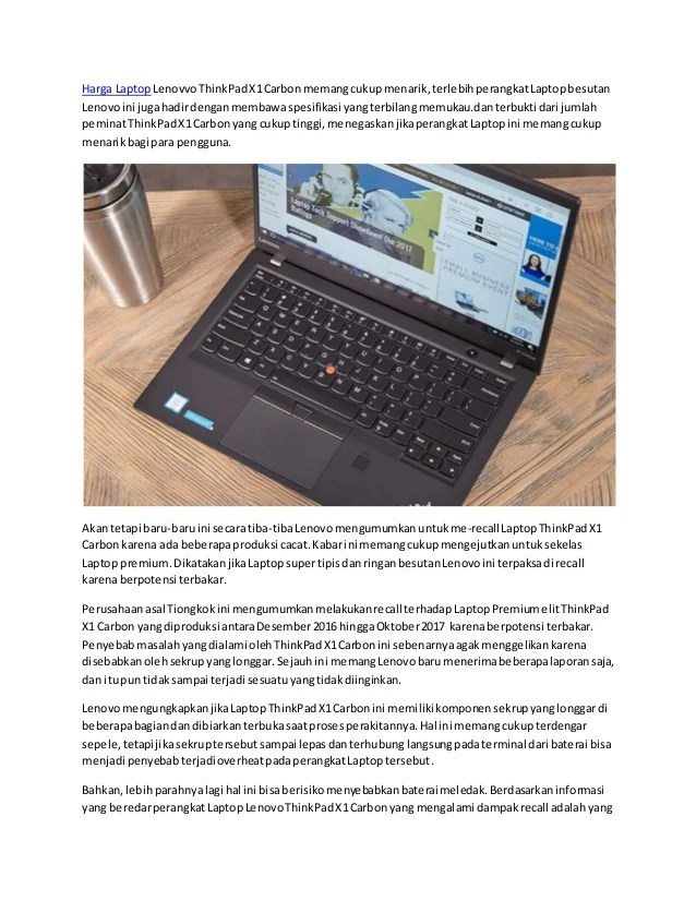 Thinkpad X1 Carbon Harga : thinkpad, carbon, harga, Laptop, Lenovo, ThinkPad, Carbon, Recall,, Kenapa?