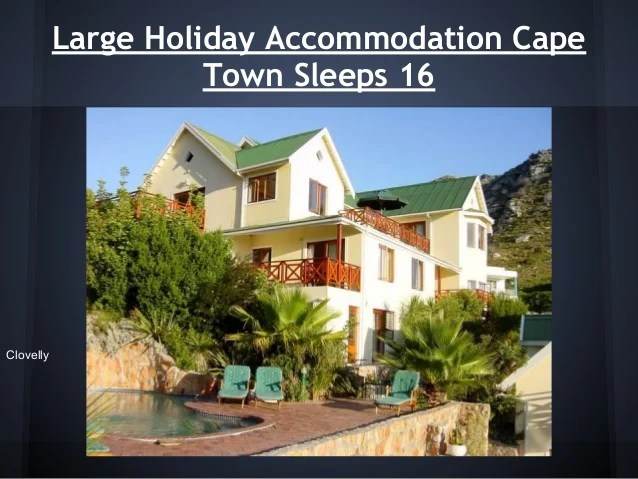 Large holiday homes Cape Town