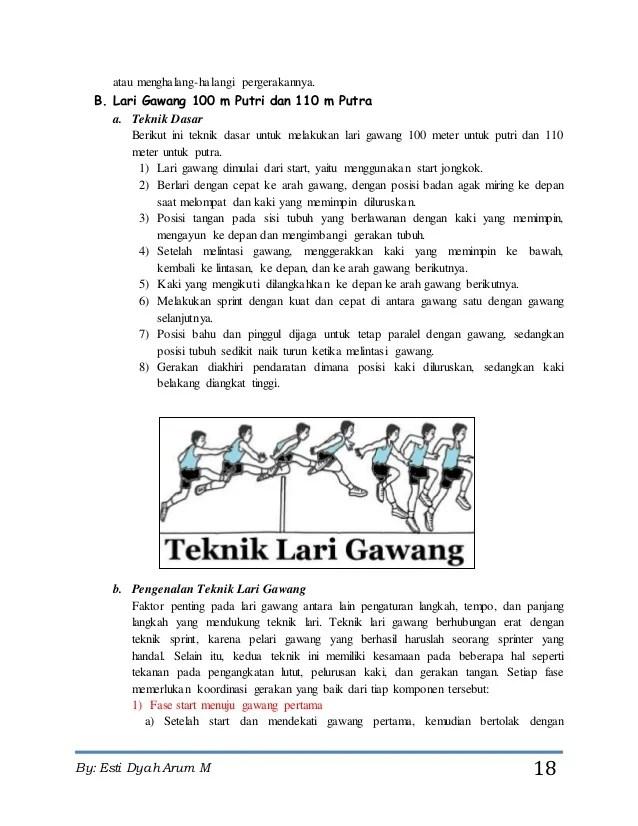 Teknik Lari Gawang : teknik, gawang, Makalah, Olahraga