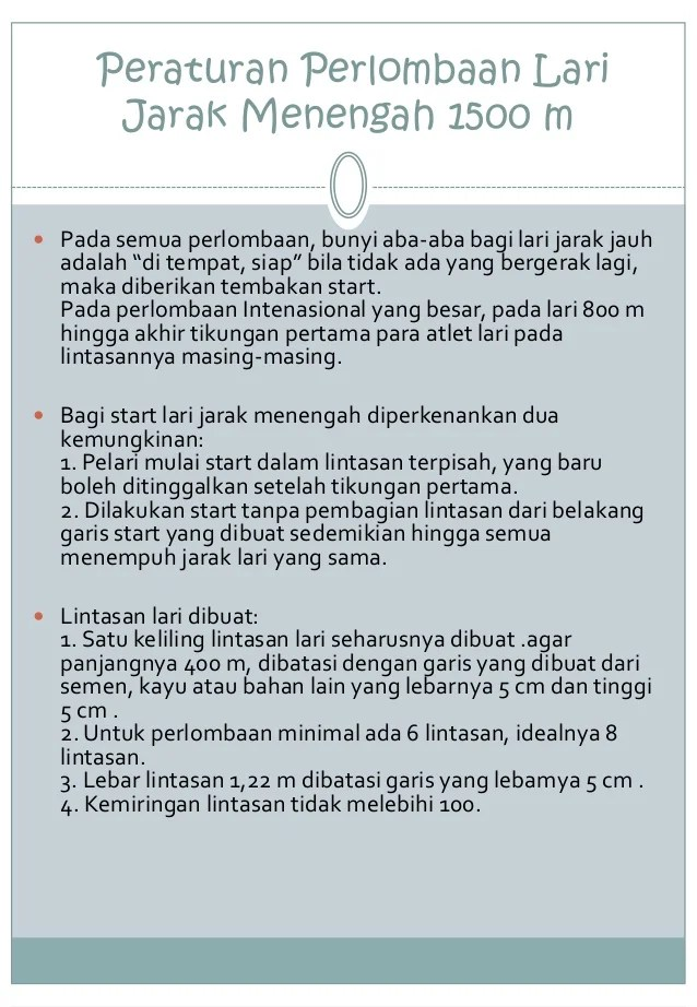 Peraturan Lari Jarak Menengah : peraturan, jarak, menengah, Jarak, Meter