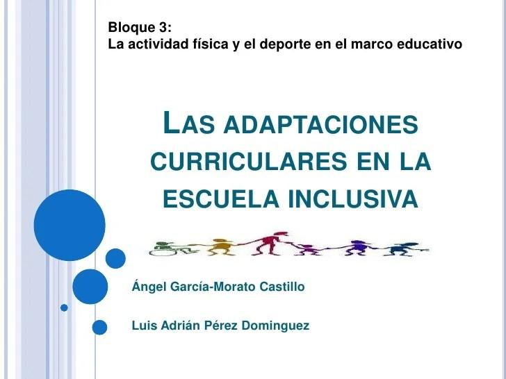 Las Adaptaciones Curriculares En La Escuela Inclusiva