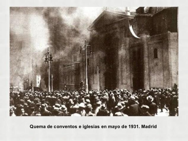 Resultado de imagen de madrid quema de iglesias