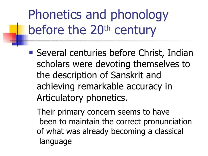 latest development on phonetics and phonology