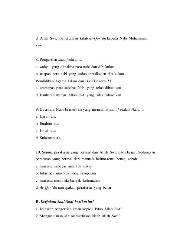 Try Out USBN | Religious Studies Quiz - Quizizz