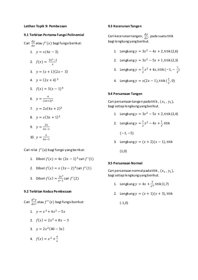 Matematik Tingkatan 4 Latihan Bab 1 6 Cute766