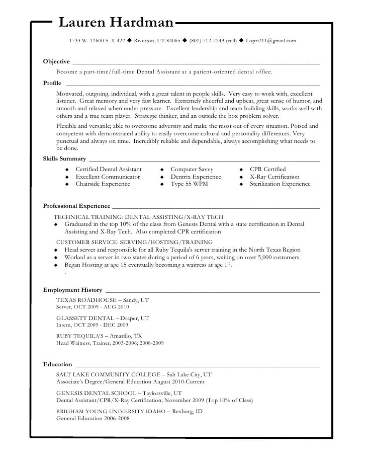 cpr certified on resume example