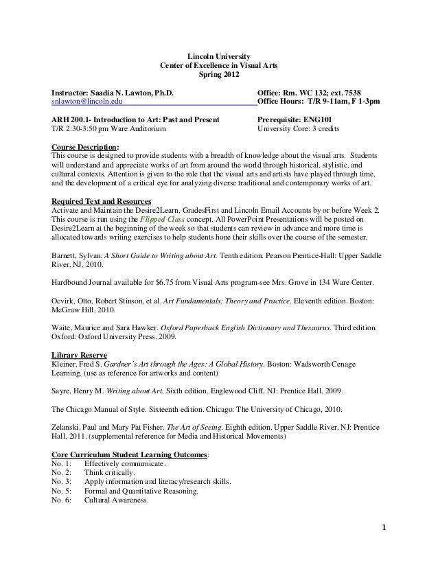 Lawton Sample Syllabi Package