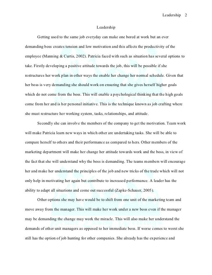 sample leadership essay co sample leadership essay
