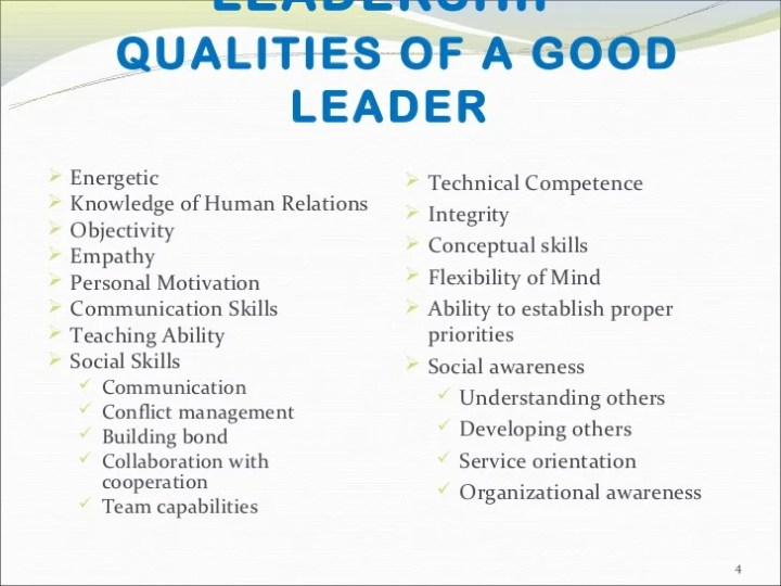 qualities of a successful leader essay 1 the 10 effective qualities of a team leader  (2018, may 18) what are the top 10 qualities to build a successful work team small business - chroncom.