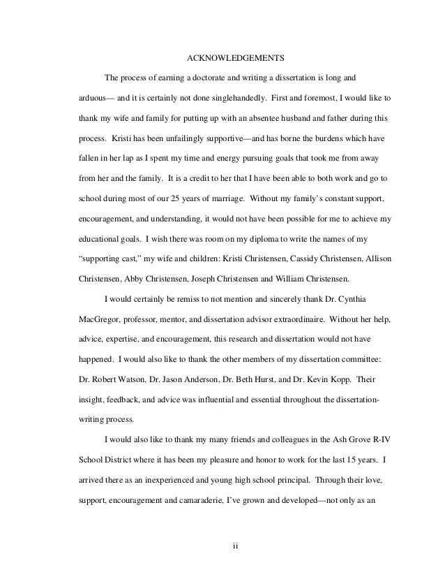 best acknowledgements master thesis
