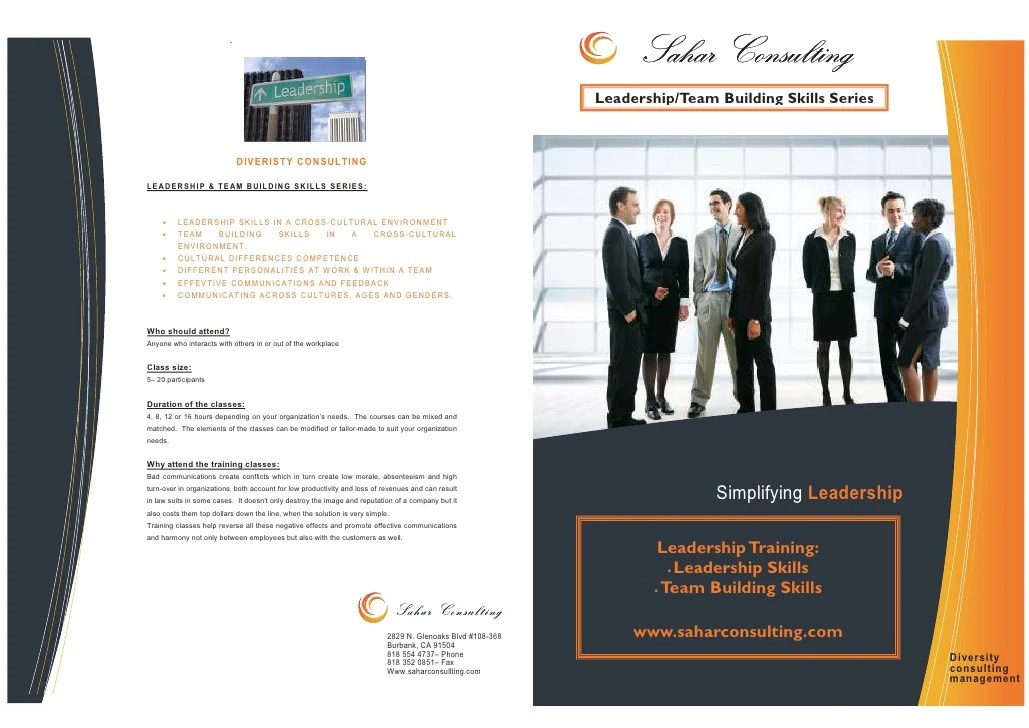 Leadership & Team Building Course Brochure