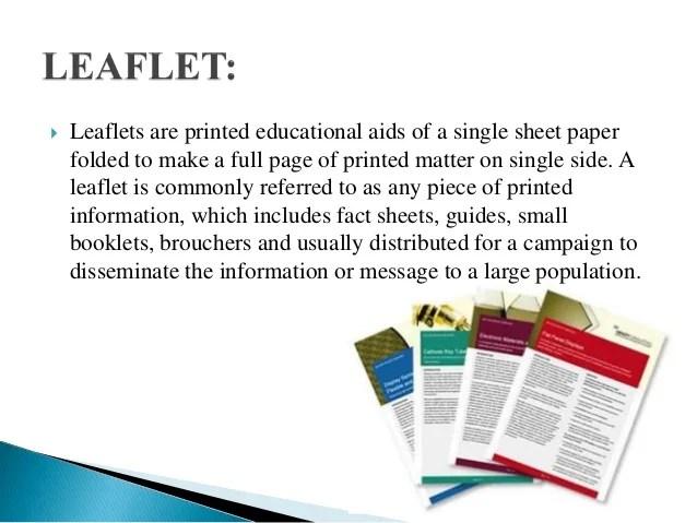 Leaflet Pamphlet And Booklet