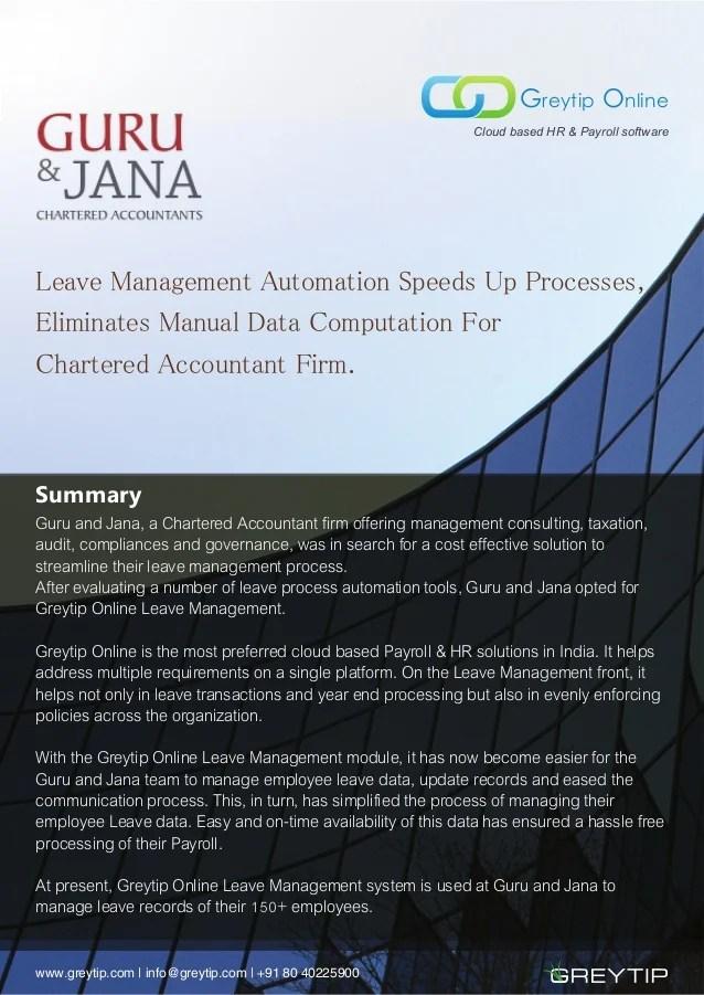 Leave management automation speeds up processes
