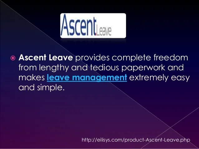 Leave attendance management process