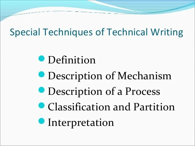 Lecture 1 Technical Writing